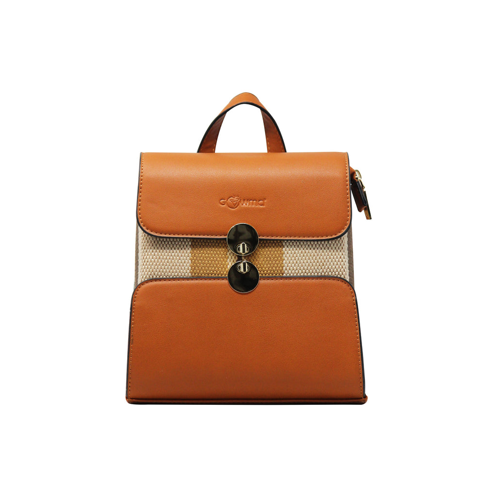 Backpack (DC) - Brown-gowma_non_leather