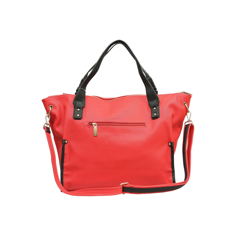 Handbag (VS Red-Black)-gowma_non_leather