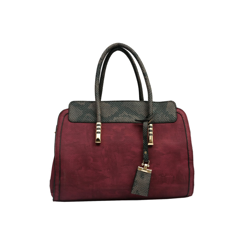 Handbag (ML-Maroon & Dark)-gowma_non_leather