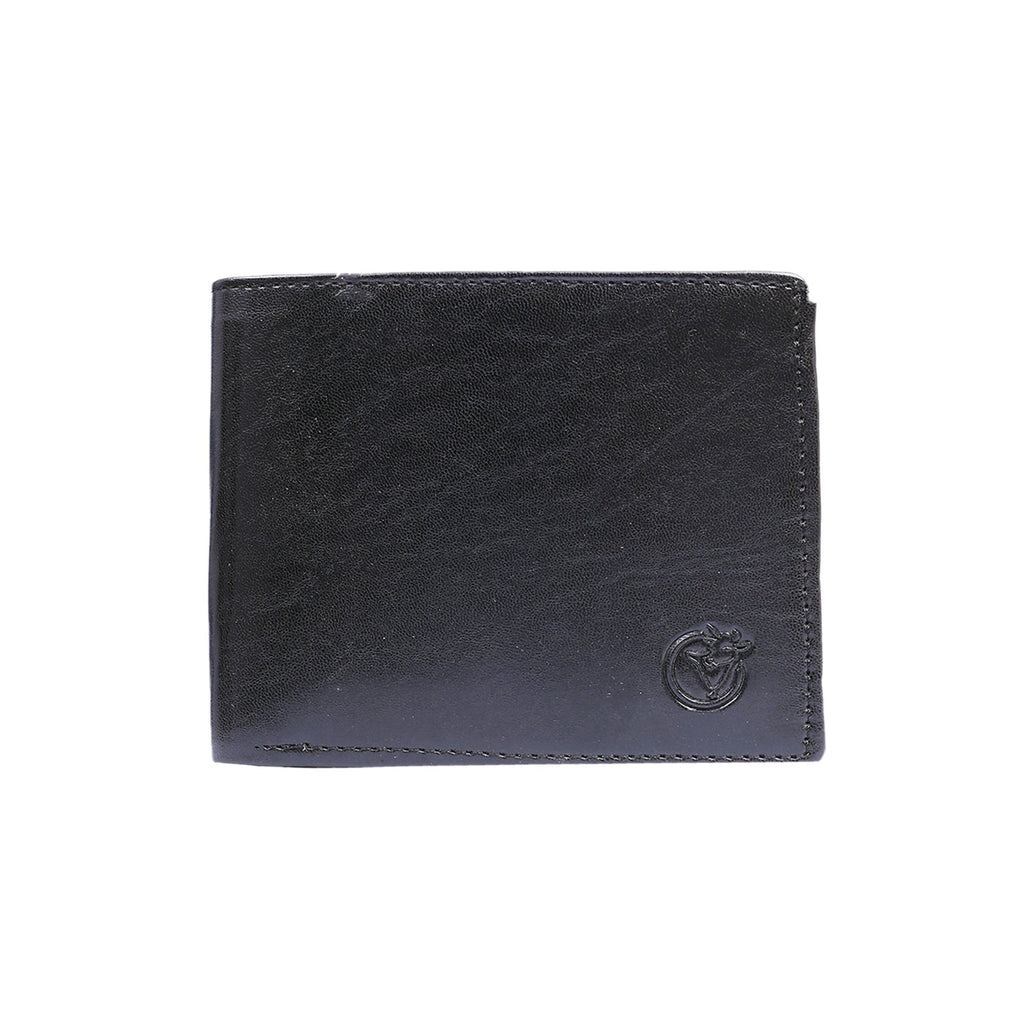 Glossy Wallet for Men - Black-gowma_non_leather