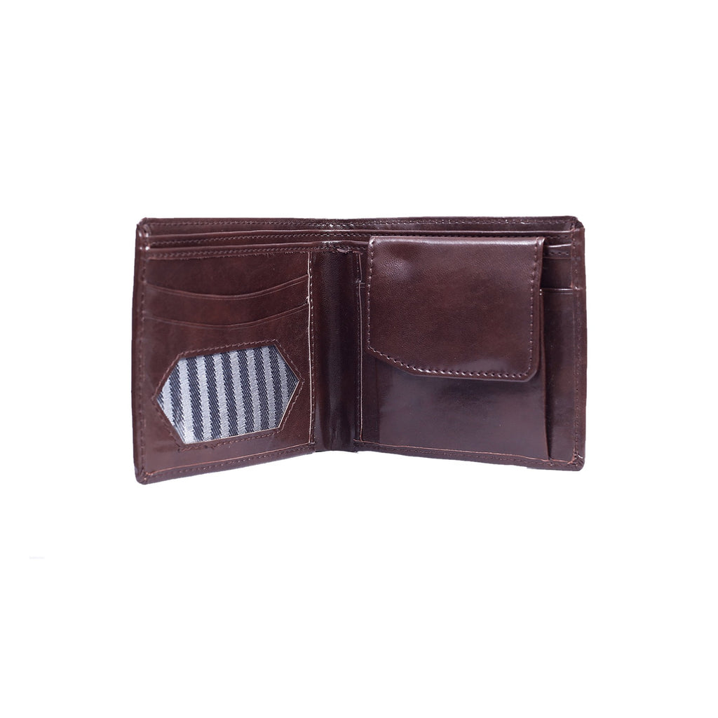 Glossy Wallet for Men - Dark Tan-gowma_non_leather
