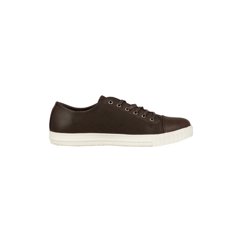 Casual Lace Up Shoes - Coffee-gowma_non_leather