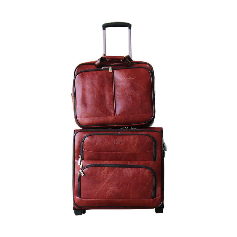 Combo cabin trolley & laptop bag (2w)-gowma_non_leather