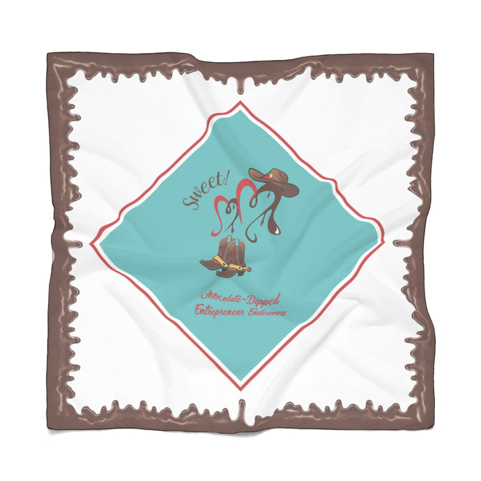 Copy of Chocolate-Dipped NACWE Poly Scarf - Sweet! White Background