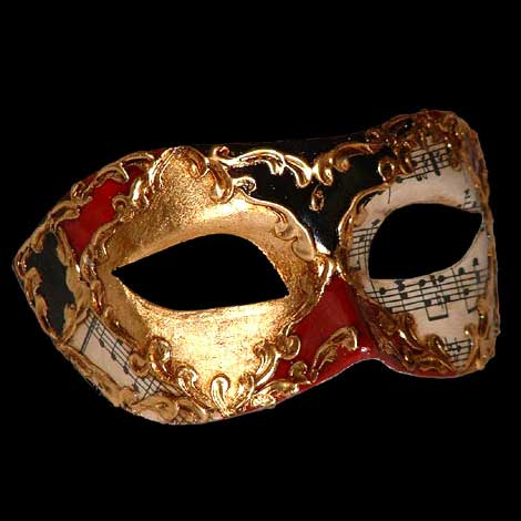 Colombina Musica Harlequin Mask