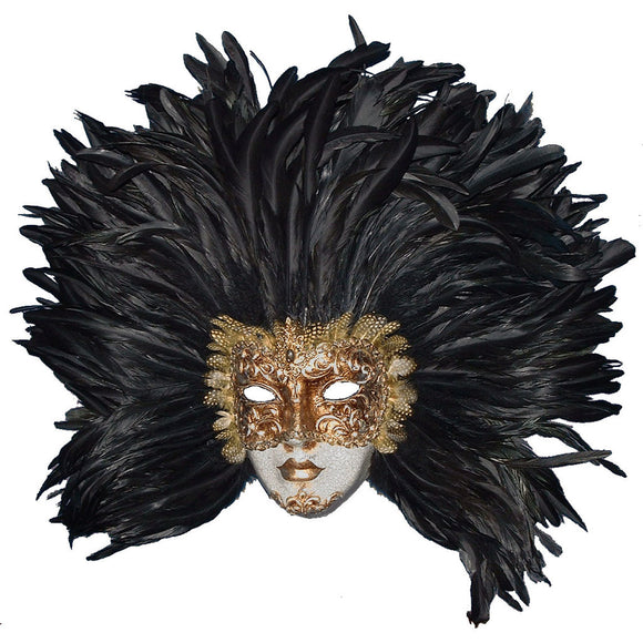 Volto Eyes Wide Shut Feather Venetian Mask