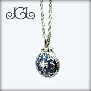 Blue Grace Locket Necklace