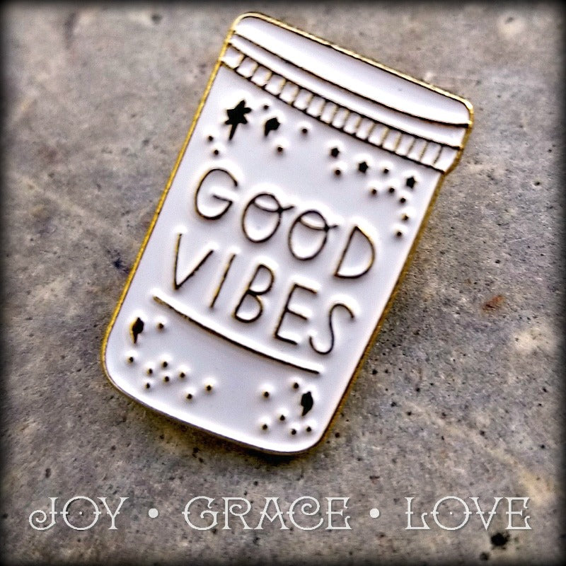 Jar of Good Vibes Pin