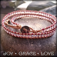Crystal Arizona Wrap Bracelet