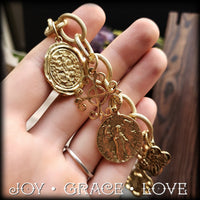 Saint Coin Toggle Bracelet