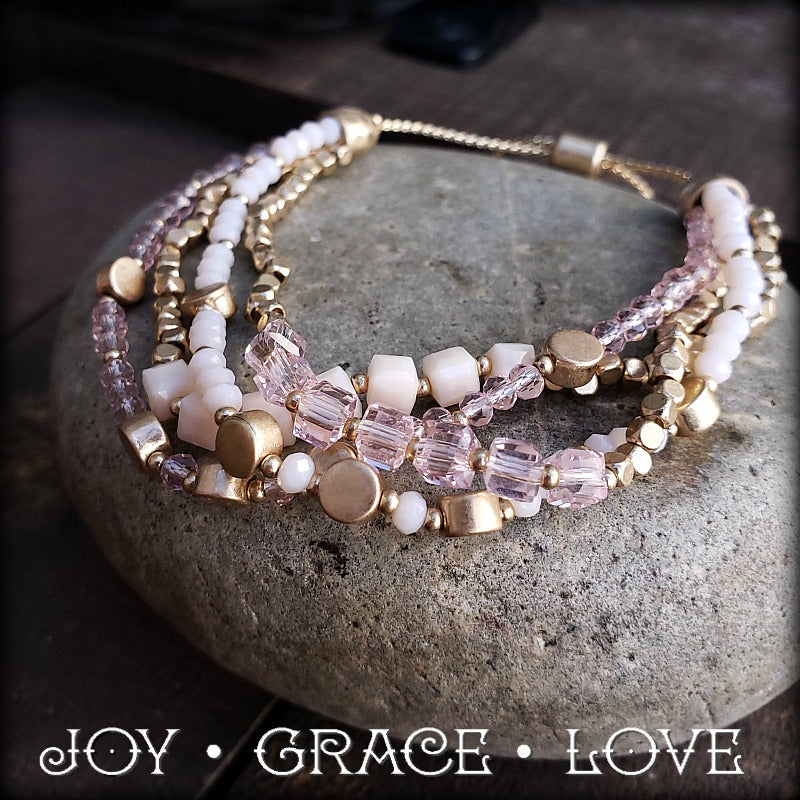Peaches and Cream Bracelet