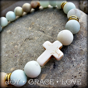 Stay Calm Cross Bracelet