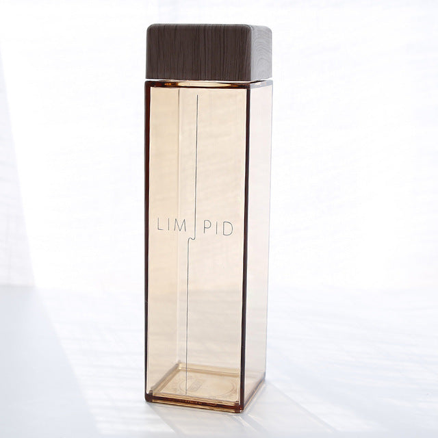 Modern Square Style Water Bottle - 450ml