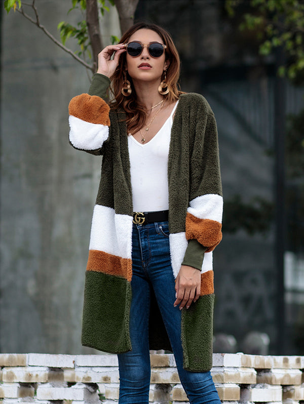 Loose Sweater Long Cardigan Plush Coat