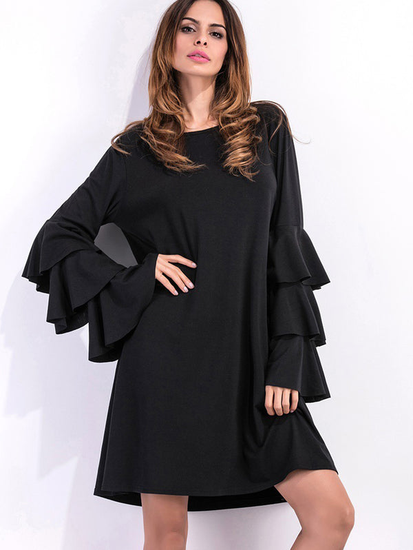 Black Long Casual Dress