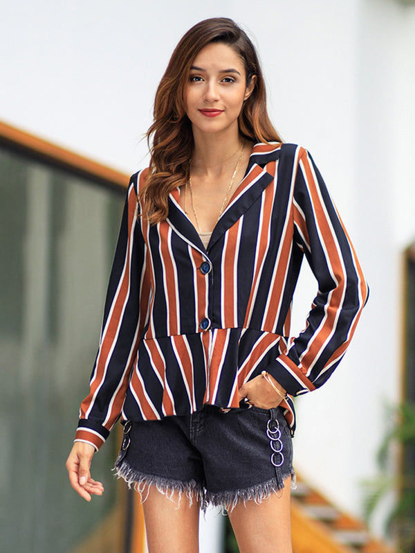 2019 Spring New Striped Long Sleeve Top