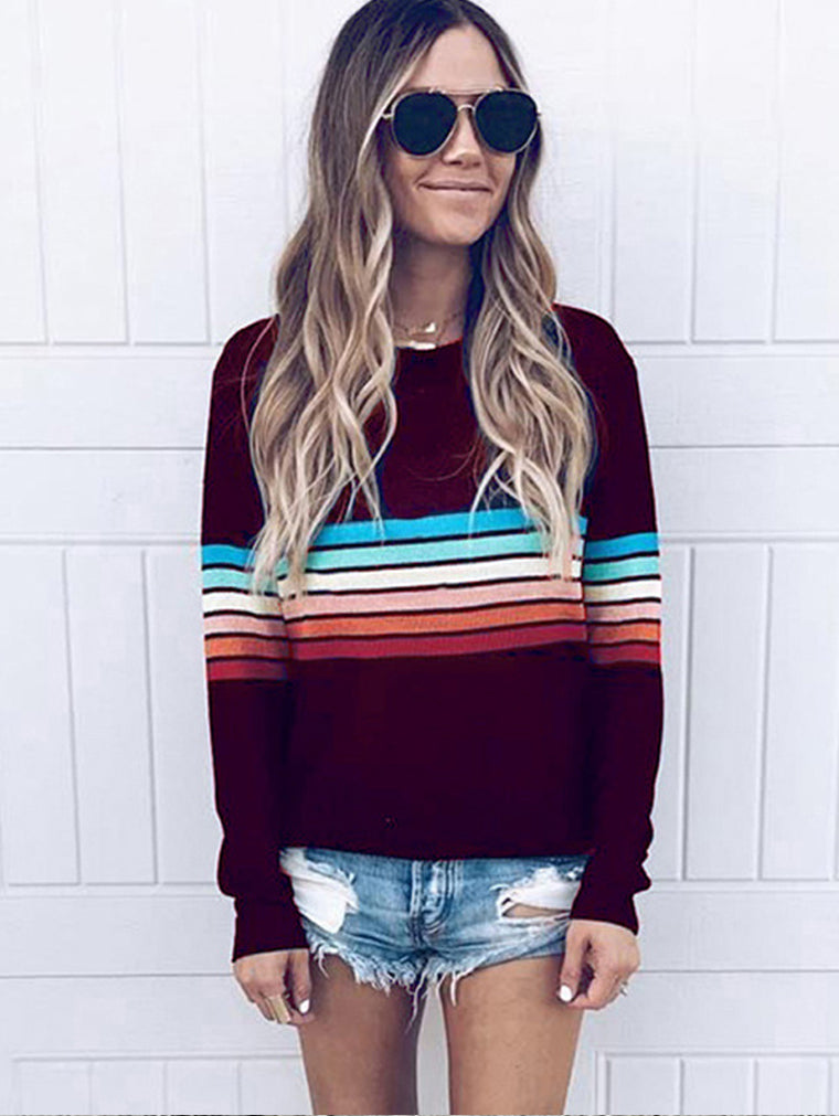 Long Sleeve Printed  Women's knitted