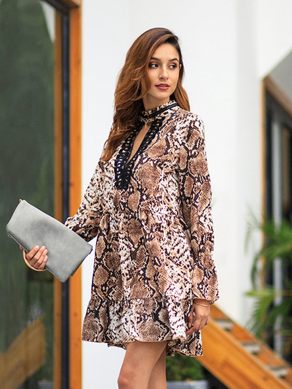 2019 Spring New Leopard Print Dress