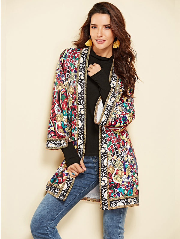 Long Sleeve Print coat