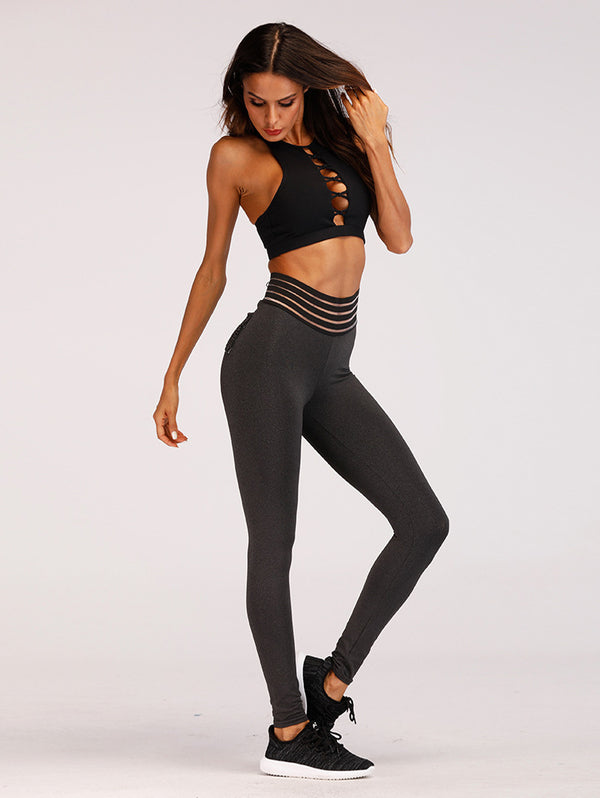 Slim-fit Sweat-absorbent Hip-up Yoga Pants