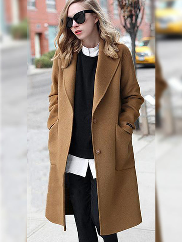 Medium Long Plain Coat