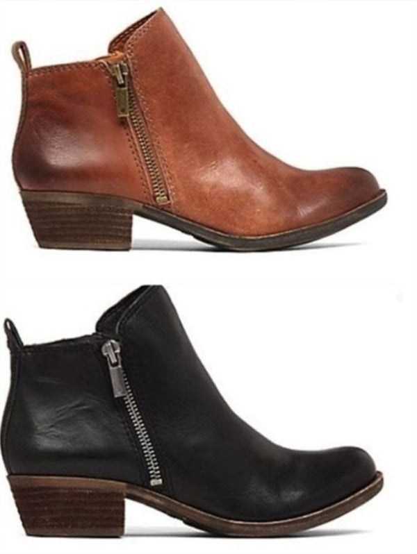 Retro Side Zip Short Martin Boots