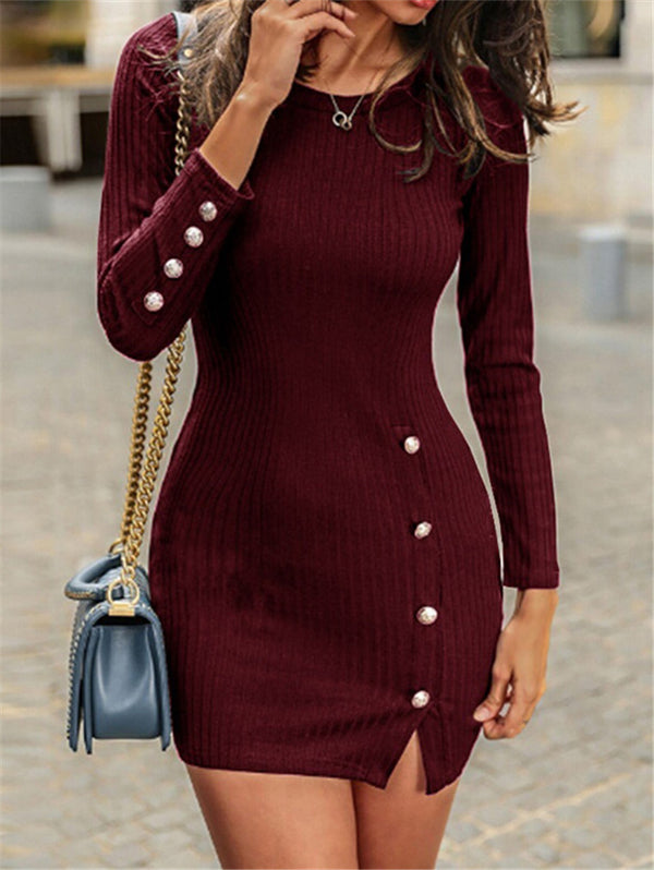 Sexy Long Sleeve Short Dress