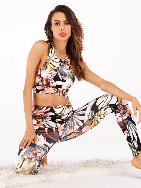 Digital Printing Vest Trousers Sports Suit