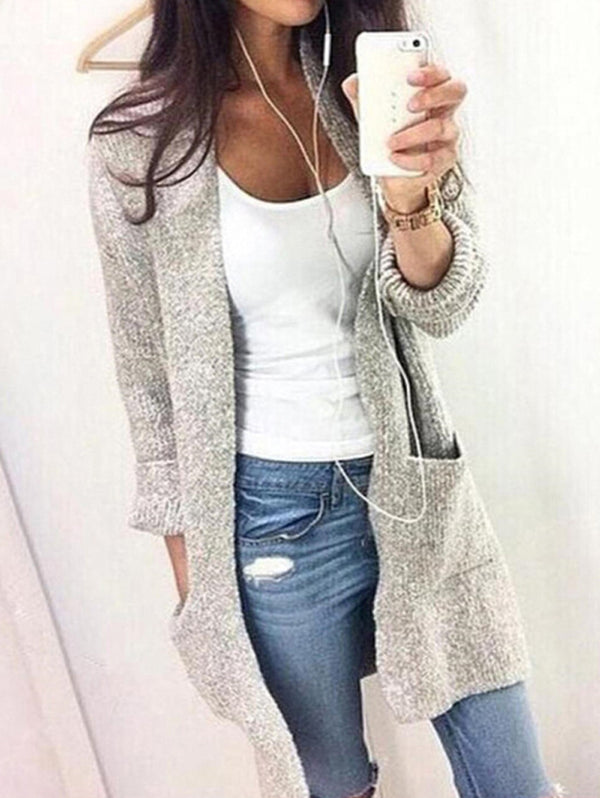 Casual Medium Pocket Sweater Cardigan