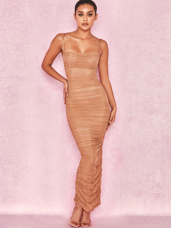 Gauze Split Bodycon Dress