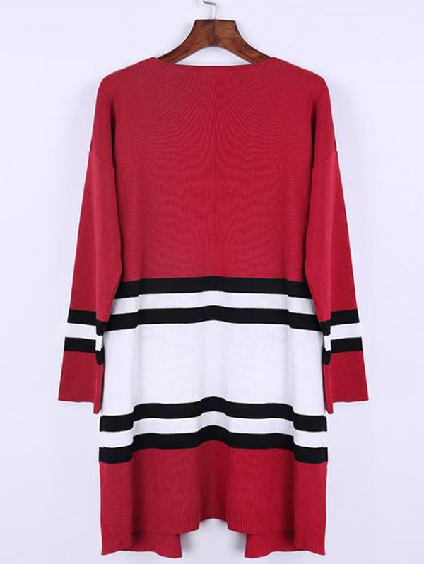 Loose Street Stripe Long Cardigan