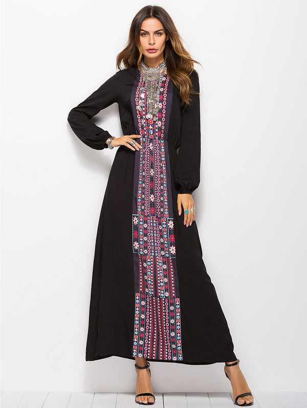 New Printed Long Sleeve Dress