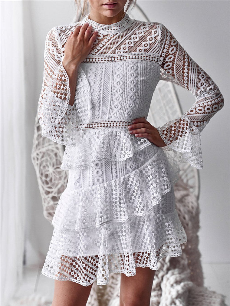 Sexy Long Sleeve Lace Dress