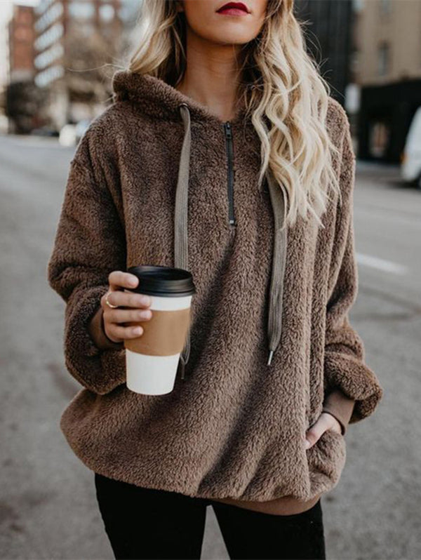 Long Sleeve Hooded Sweater Coat