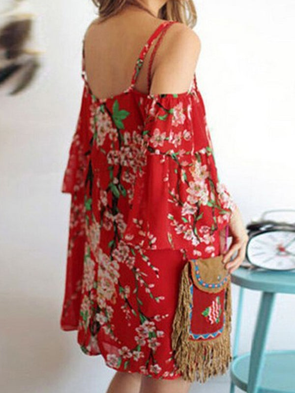 Printed Chiffon Casual Dress