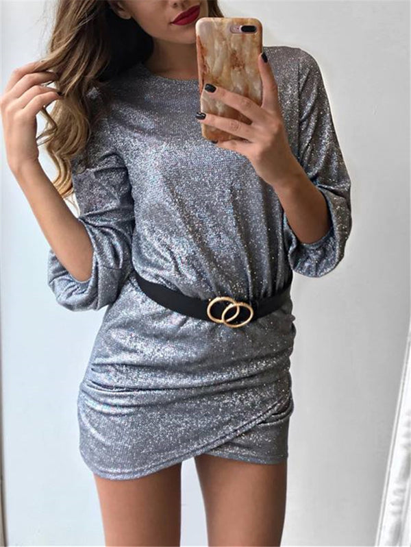 Round Neck Short Dress