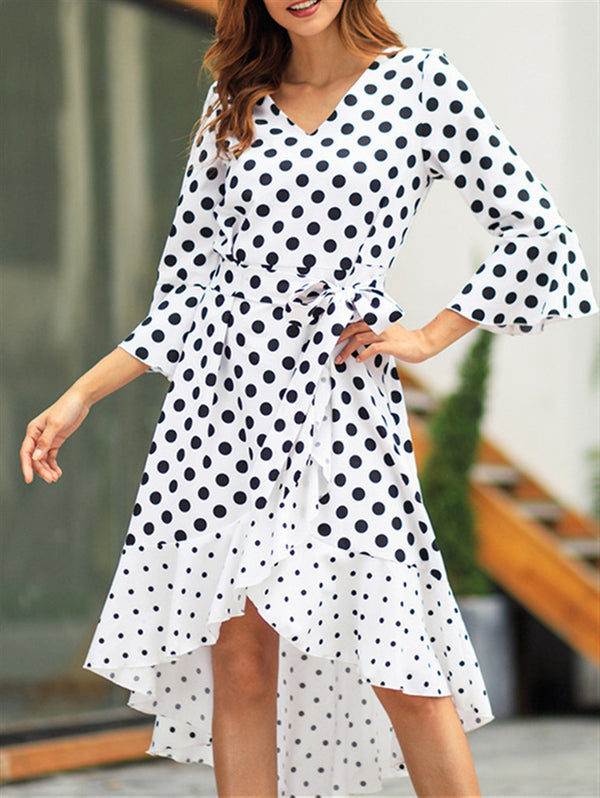 2019 Spring New Wave Long Sleeve Dress
