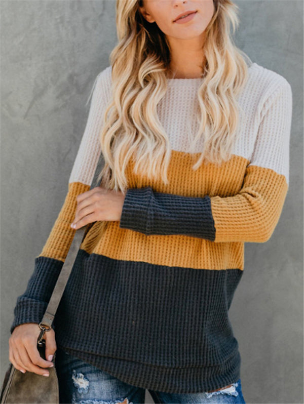 Fashion Color Loose Sweater