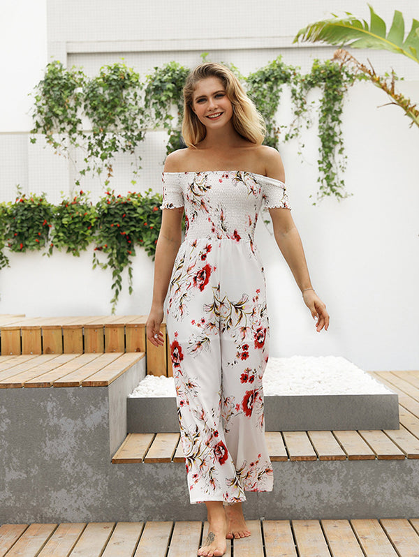 Printed One Shoulder Jumpsuit