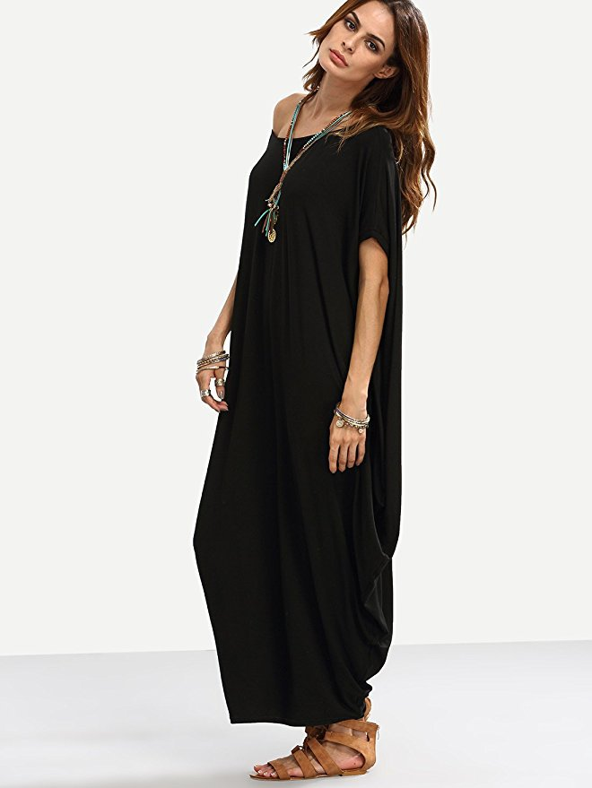 Plain Pleated Maxi Dress