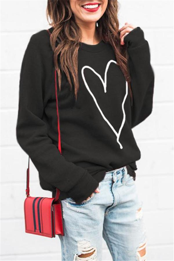 Heart Pattern Hoodies