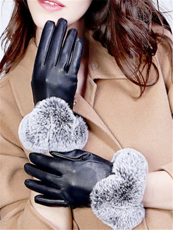 Winter Rex Rabbit Fur Gloves