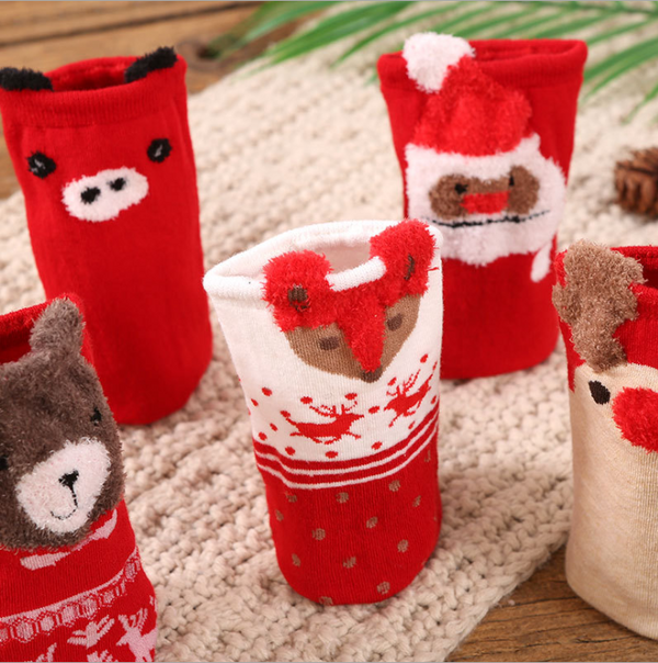 Cute Cartoon Red Tube Christmas Stocking