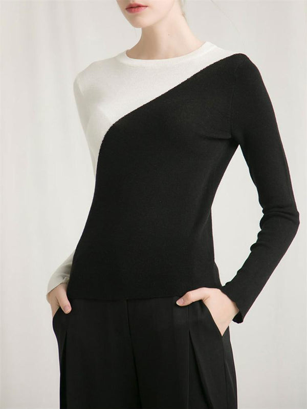 Long Sleeve Round Neck Knitwear
