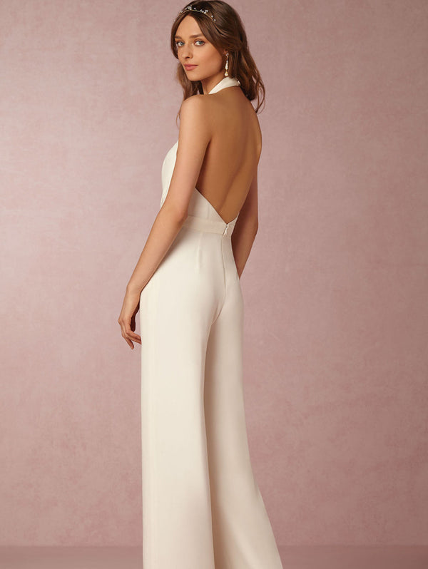 Elegant Sleeveless Halter Jumpsuit