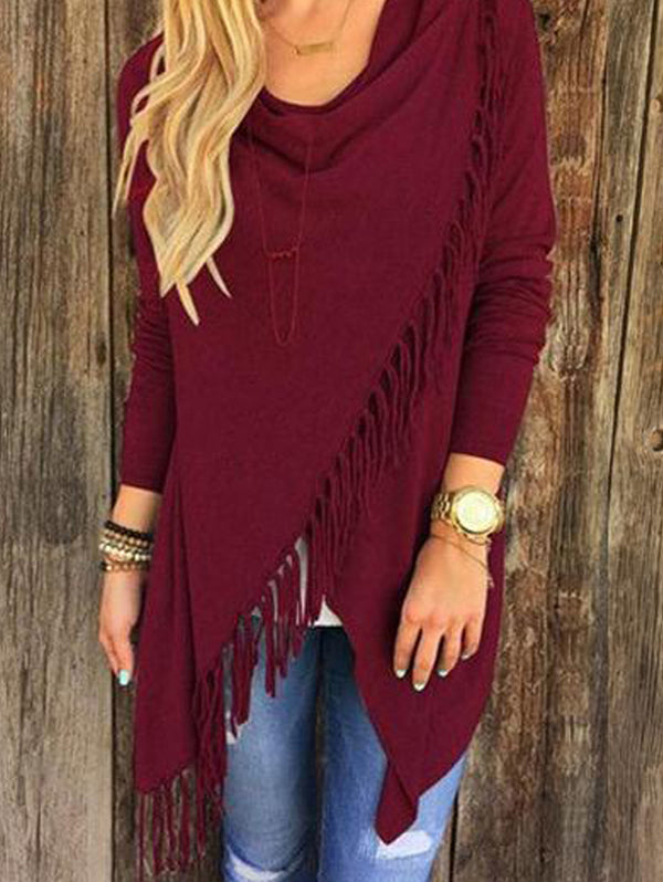 Slim Classic Tassel Slash Cardigan