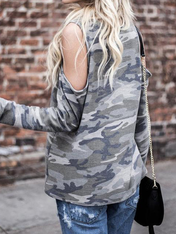 Long Sleeved Off-shoulder Shirt