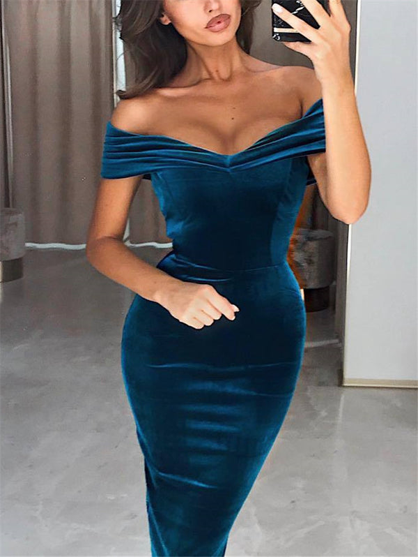 Off-the-shoulder Strapless Dress