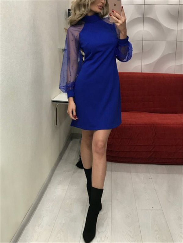 Long Sleeved Pearl Slim Dress