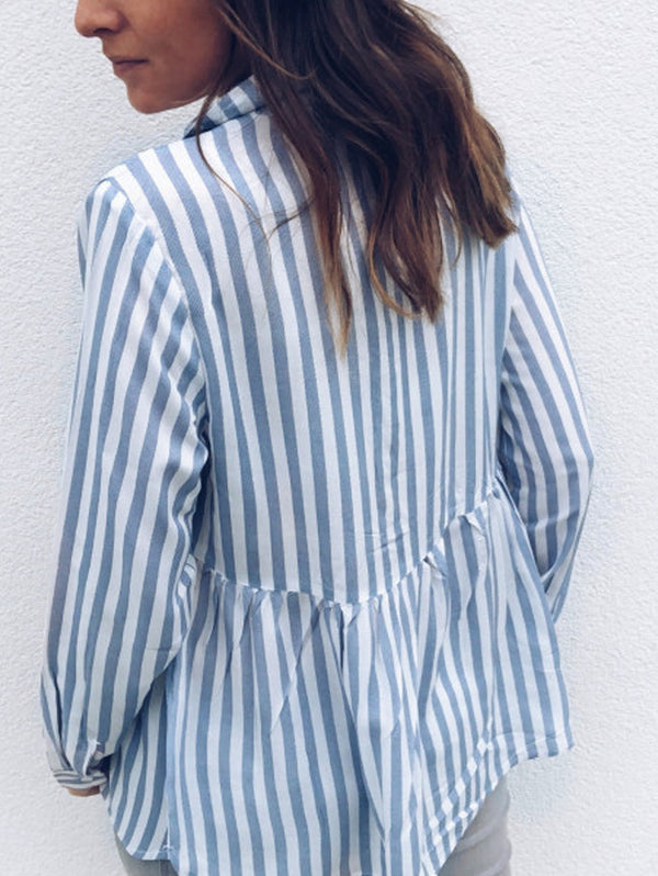 Striped Casual Long-Sleeve Shirt